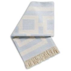 Jonathan Adler Throw Blanket Nixon Blue