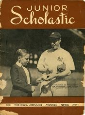 Joe DiMaggio was featured on the cover of Junior Scholastic in October of 1937.