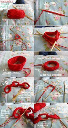How to: Eine Kette stricken