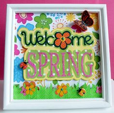 Nicole made this awesome Spring decor using the Spring Captions www.svgattic.com