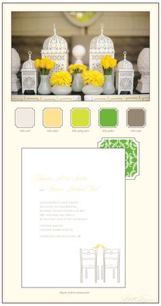 Yellow and Green color pallet