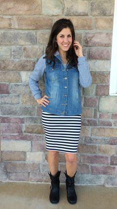 Striped Skirt, Sweat