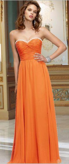beautiful orange dresses
