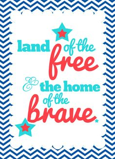 {{Patriotic}} Printable for Memorial Day, 4th of July, Veterans Day and more.