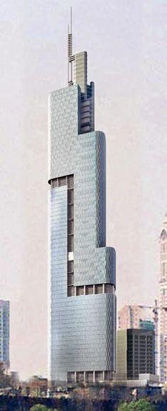 Nanjing Greenland Financial Centre, The Zifeng Tower, Nanjing, China