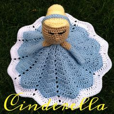 Crochet security blanket lovey- princess doll