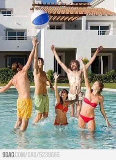 Jesus at the pool
