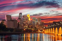 Pink sky in #minneapolis