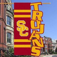 USC Trojans 28'' x 44'' Cut-Out Applique Banner Flag - Gold/Cardinal