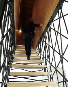 Suspended Steel Wooden Stairs