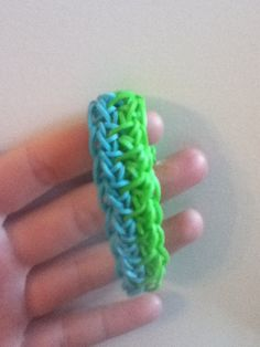 Rainbow Loom Holiday pattern rubber band bracelet