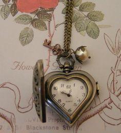 Pretty antique Heart Locket Watch