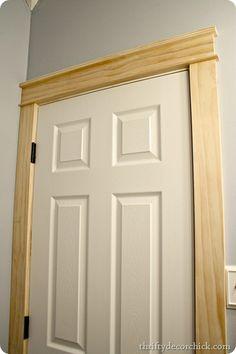 DIY craftsman door trim --so easy!