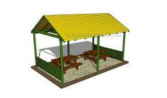picnic shelter, outdoor shelter, pergola plan, free pergola