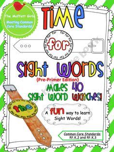 TheMoffattGirls Shop - | Teachers Notebook  Sight word watches