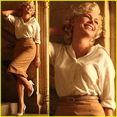 Love this look from My Week With Marilyn. Which was amazing btw.