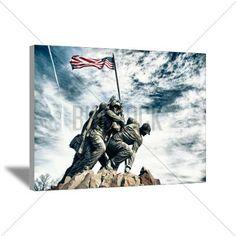 marine corps art | ... > Wall Art > Canvas Art > Marine Corps War Memorial Canvas Art marine corps art, marin corp