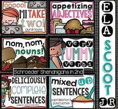 ELA Scoot Jr language arts activities for any time of the year for 2nd grade