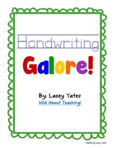 Free handwriting pages for each letter (upper & lower)