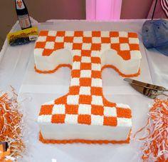 Checkerboard T Vols Cake