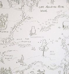 Hundred Acre Wood   From Nursery Tales  Can be bought in Norway from www.tapetgalleriet.no