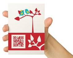 Card with QR code