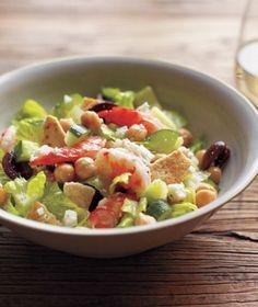 Mediterranean Chopped Salad With Shrimp #dinner #food #recipes