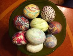 How to Tie-Dye Easter Eggs with Silk Ties: A Step-by-Step Guide -- So excited to do this again!