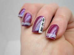 Music themed nails