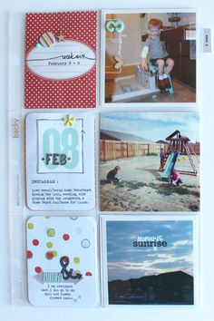 Week 6 - Scrapbook.com - Mix in different sizes in your Project Life album.
