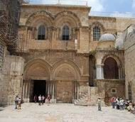 Church of Holy Sepulcher   One of the most holy churches, located in Jerusalem at the traditional site of Golgotha - the place of Jesus Crucifixion and burial.