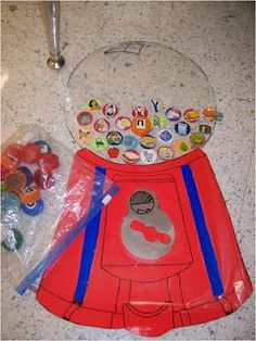 Alphabet/Reading games using leftover lids.  Suitable for my toddler (who is still figuring out letters) and my preschooler (who is learning to sound out words).