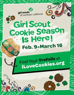 When you buy TREFOILS, you are helping girls learn while they earn! GSNorCal's 2014 Cookie Season is Feb. 9-March 16. Find booths near you at www.iLoveCookies.org!
