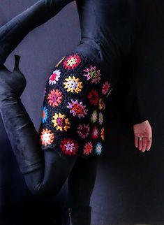 crochet granny square skirt