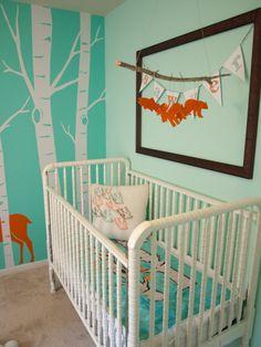 woodsy baby nursery #modernnursery #summerinthecity