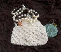 Jewelry Bag  Lacy Crochet by Design89 on Etsy, $11.00