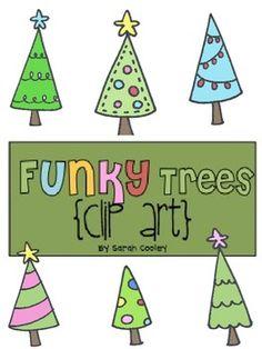 Funky Trees {Clip Art}