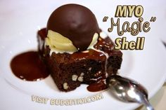 """Magic Shell Ice Cream Topping is a delicious chocolate sauce that """"magically"""" hardens the second it hits the ice cream. Here's 2 different ways to Make Your Own!"""