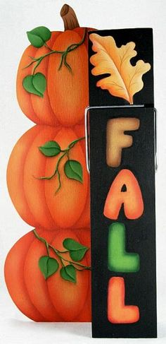 The Decorative Painting Store: Fall Pumpkins Clothespin Buddy DOWNLOAD, Autumn/Halloween Patterns