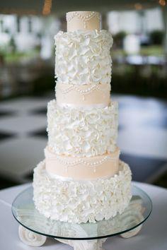 Six layers of gourmet heaven! #weddingcake {Brandy Angel Photography; Cake:Cakes Design by Debra}