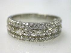 Beautiful vintage diamond band.