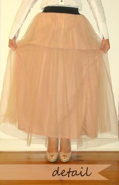 DIY: tulle maxi skirt