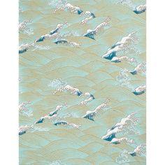 """Paper Source -- Yuzen Pool Lake Waves Fine Paper 25"""" x 19"""" $8"""