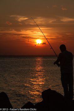 Sandy Hook Beach sunset, New Jersey