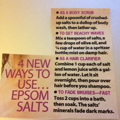 Epsom salt uses