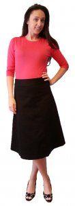 Cotton Pique A-line Skirt - $39.00 :: DCM Apparel - Modern Modest Clothing