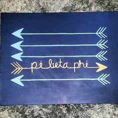 Pi Phi arrow craft #piphi #pibetaphi