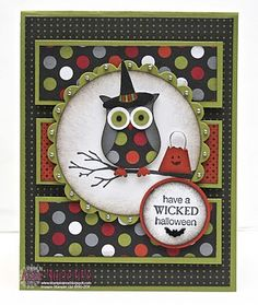 SU! Owl builder punch, Wicked Cool stamp set - Ann Marie Hile