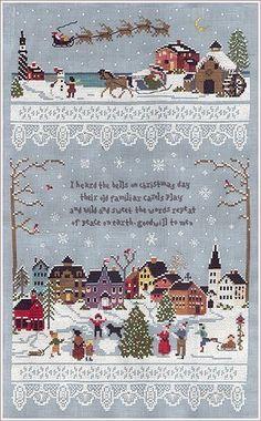 """Christmas Village"" by Victoria Sampler cross stitch pattern"