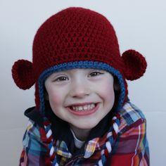 crochet hat, crochet monkey, hat patterns, monkey hat, crochet patterns, hat free